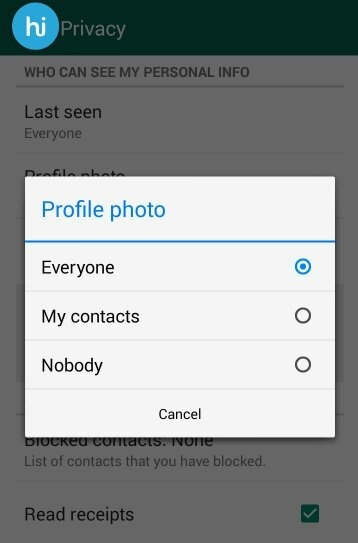 How to see someone's display picture on WhatsApp if I am not in