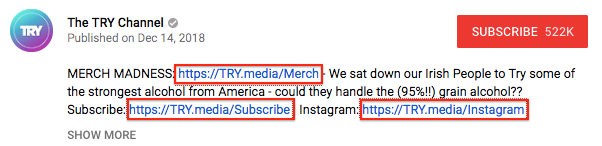 Why do YouTubers use link shorteners like bitly in their