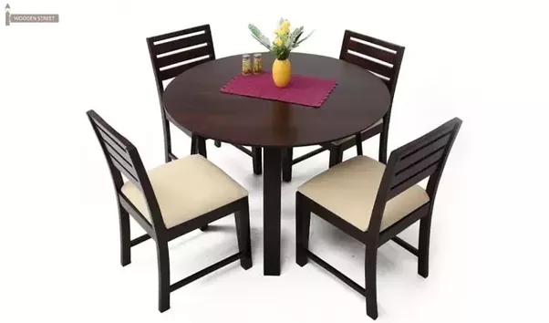 Ideally Round Shape Dining Tables Look More Appealing And Occupy Less Space  Than Rectangular Dining Tables.