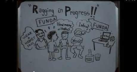 ragging meaning in hindi