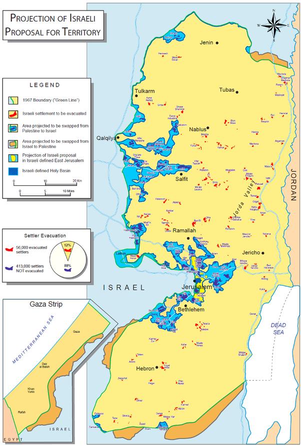 When People Talk About Land Swaps In An Israelpalestine Peace