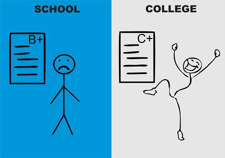 what is the difference between highschool and college