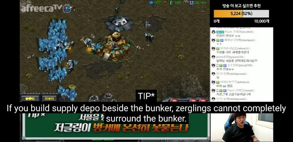 Why do Terrans sometimes put a supply depot in front of