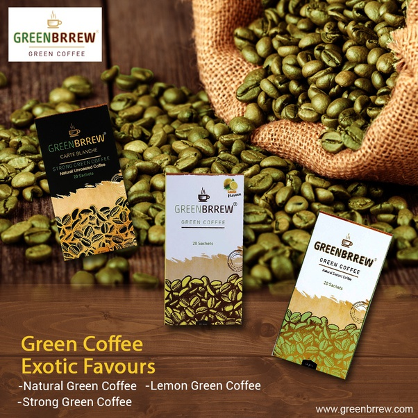 Exotic green coffee beans