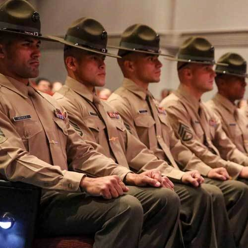 Why are campaign hats worn with a forward tilt troopers drill sergeants etc quora - Becoming a marine officer ...