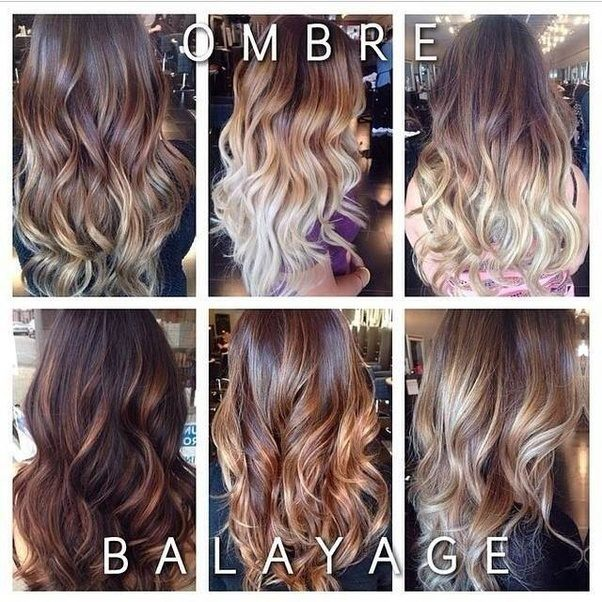 Ombre means the transition from a dark color to a light but one on the other hand Balayage means applying the lighter color in a square shape all over the ... & What\u0027s the difference between balayage and ombre? - Quora