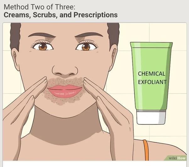 how to remove upper lip pigmentation