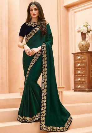 82582ffcb8 Which blouse colour will match a dark green saree? - Quora