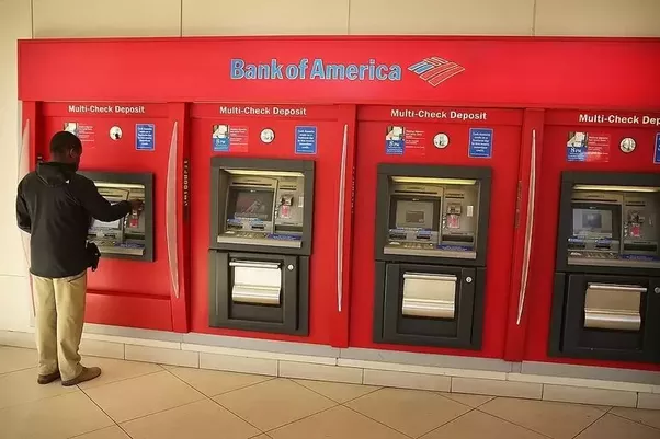 Can you deposit a check at the Bank of America ATM?