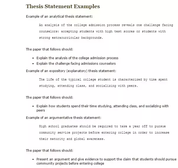 How Long Should A Thesis Statement Be Quora