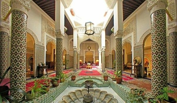 Rabat Is Full Of Hotels And Riads Are Traditional Houses With Stoun Design On The Walls Floor A Picture Speaks