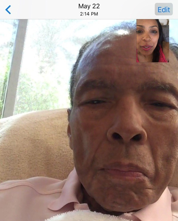 What was the most recent photo of muhammad ali before his death quora had from his third wife veronica porsche posted a screenshot from a facetime conversation with her father on tuesday just two weeks before his death thecheapjerseys Image collections