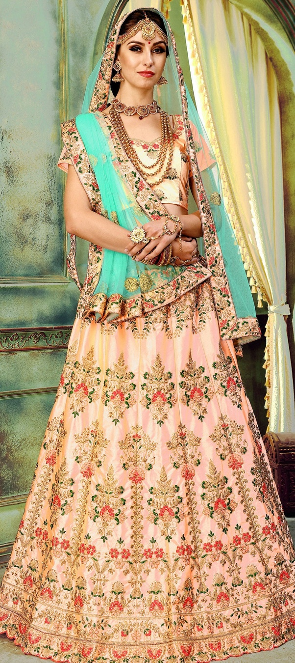 379bb0e87e7 Here s a list of the most unique color combinations in Bridal lehenga that  will definitely trend in 2019 and will make heads turn.