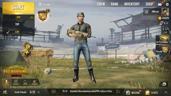 pubg mobile first person mode download