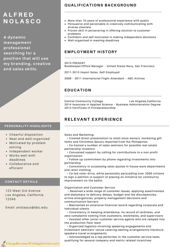 Online cv writing services