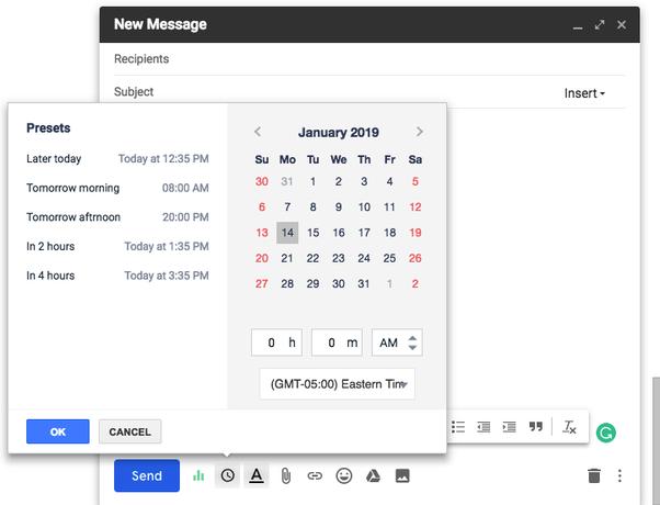 Backdating emails/gmails