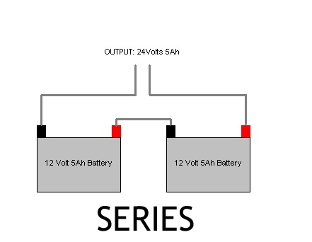 which of two batteries drains out first if it is connected ... series battery connection diagram series battery wiring diagram 1992 ford