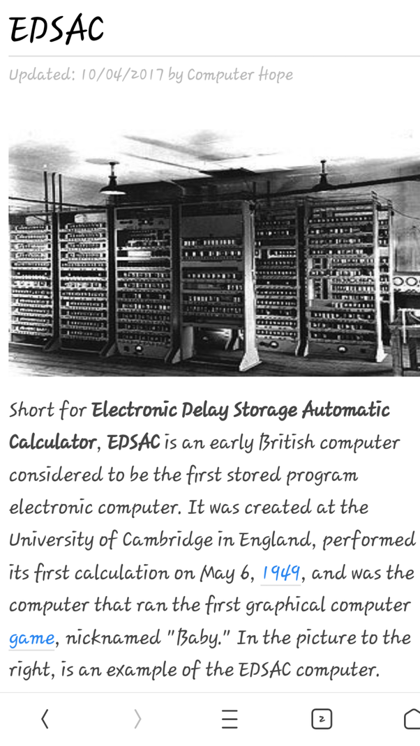 What Is The Full Form Of Edsac Computer Quora