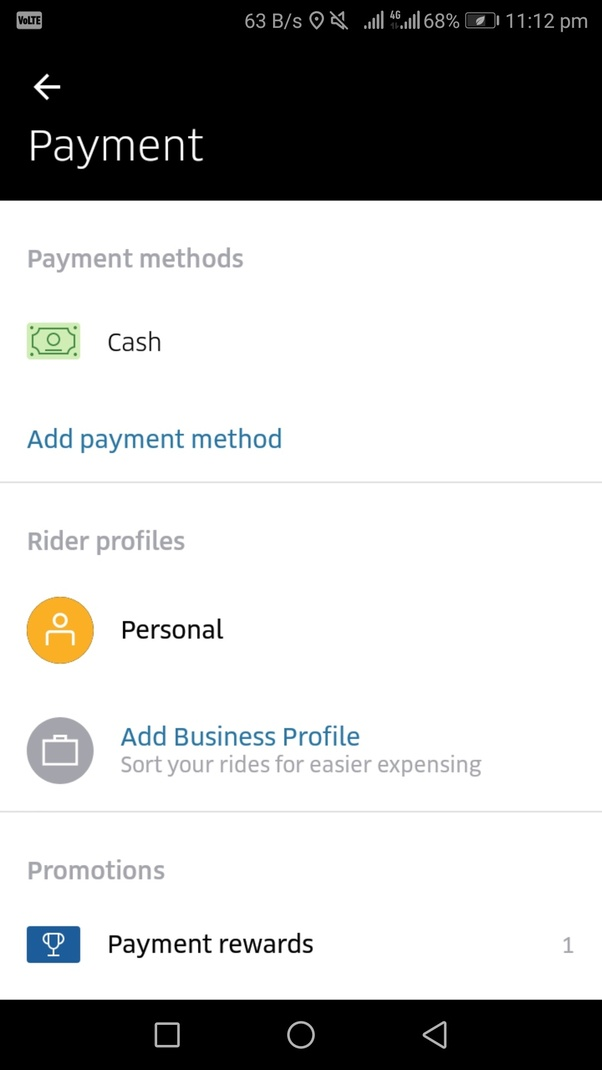 How to pay cash for Uber - Quora