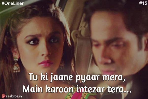 What is the best line from a Bollywood song? - Quora