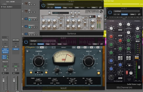 How does one apply VST effects in post production to a