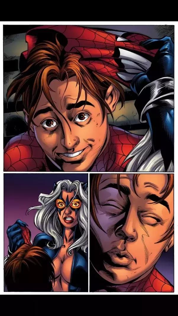 Did Black Cat vomit on Spider-Man? - Quora