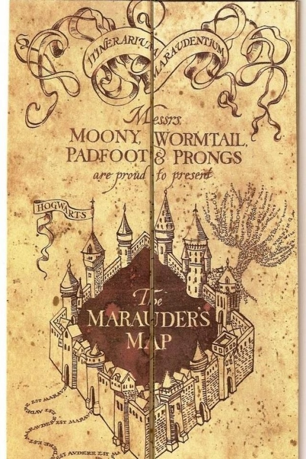 ah the marauders map the term marauder is siriusly close to my hart and on every moony night i wish i was the fourth instead of that spineless rat