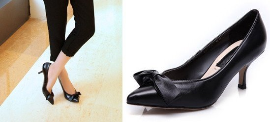 Nine Seven Genuine Leather Women S Pointy Toe Stiletto Cute Handmade Dressy Pumps Shoes