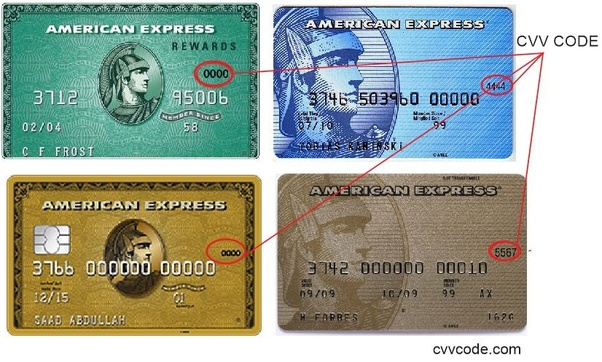 Where Is The Cvc Located On An American Express Card Quora