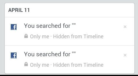 What Does The Symbol Mean In The Search History On Facebook Quora