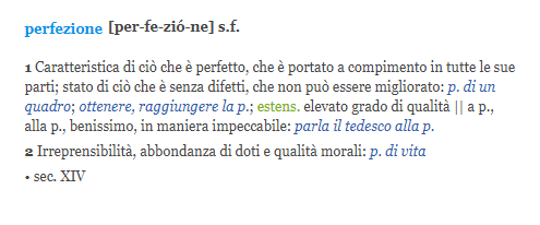 How To Say Perfection In Italian Quora
