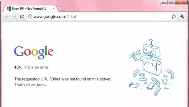 404 Error Page Definition