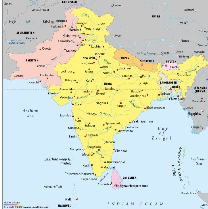 Which Countries Are Closest To India Quora