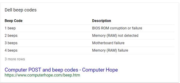 my motherboard is beeping