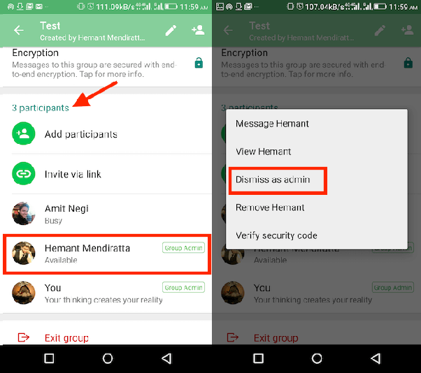 How to add admin on whatsapp group chat