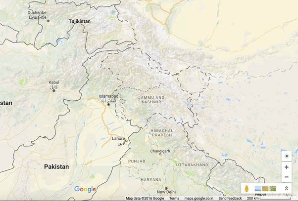 In google india maps jammu kashmir in its entirety is shown as global map shows complete greater jammu and kashmir as disputed territory gumiabroncs Image collections