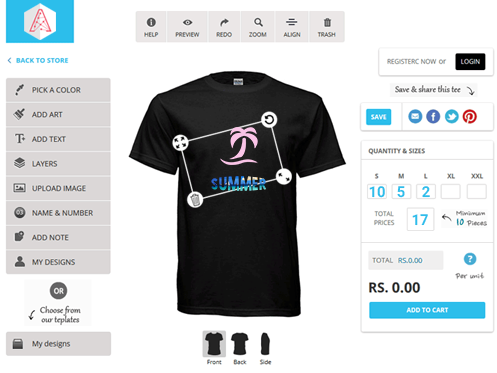 Who is the best online t-shirt design software company? - Quora