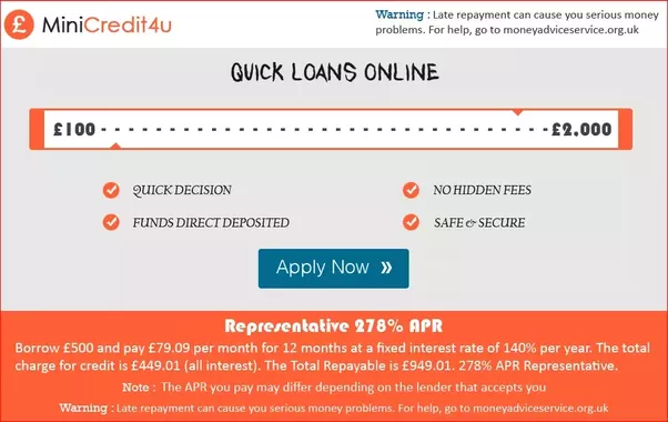 Apply For Mini Cash Loan Online