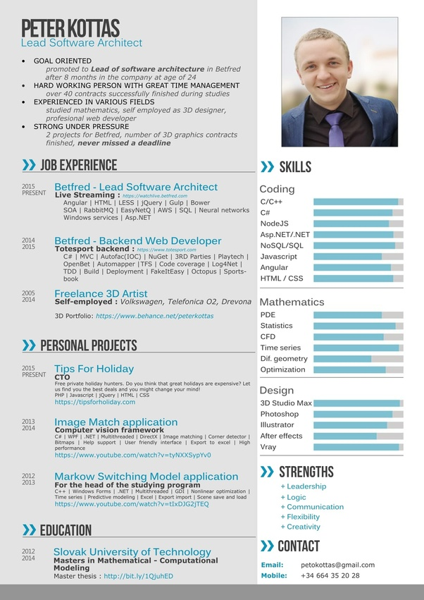 what does a good resume or cv look like