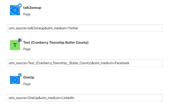 Add UTM parameters to link in social media posts