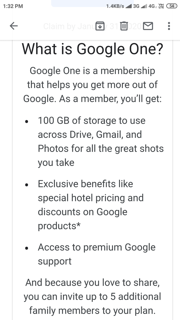 What's the difference between Google drive and Google one