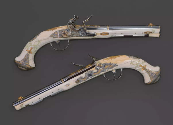 Can bone or ivory be used as the material for a rifle stock (e g