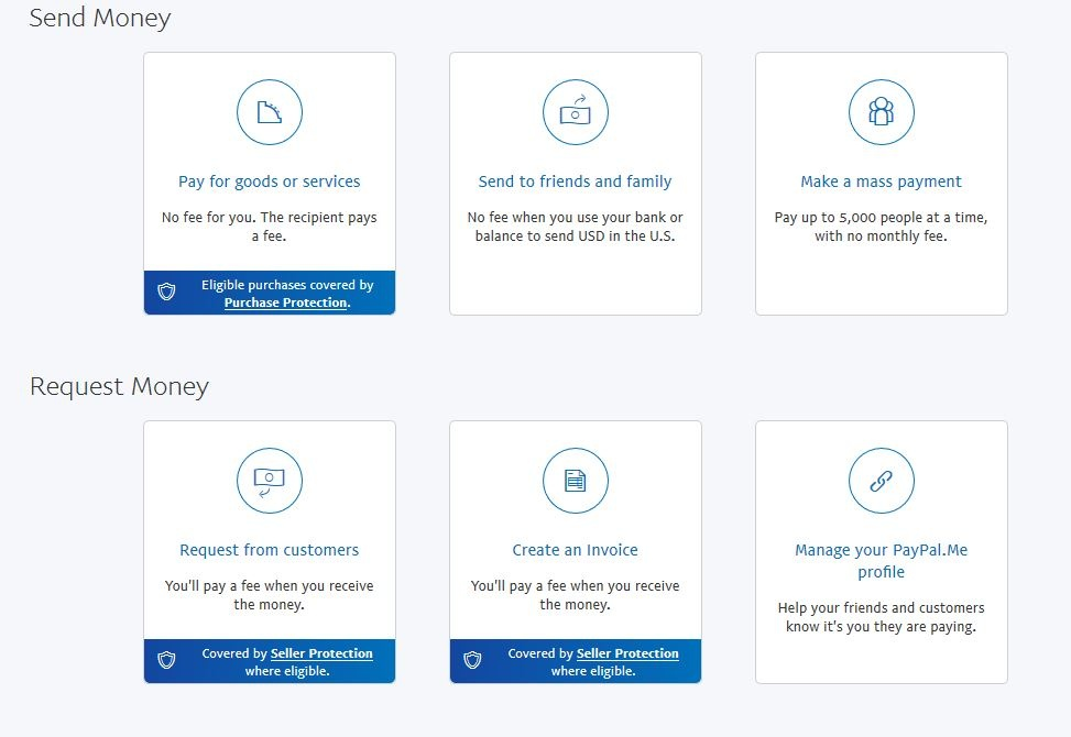 Can I receive money from a friend on my PayPal business