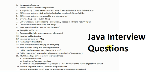 infosys java interview questions for 4 years experience