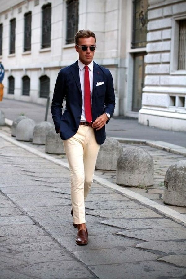 What color suit jacket should you wear with khakis? - Quora