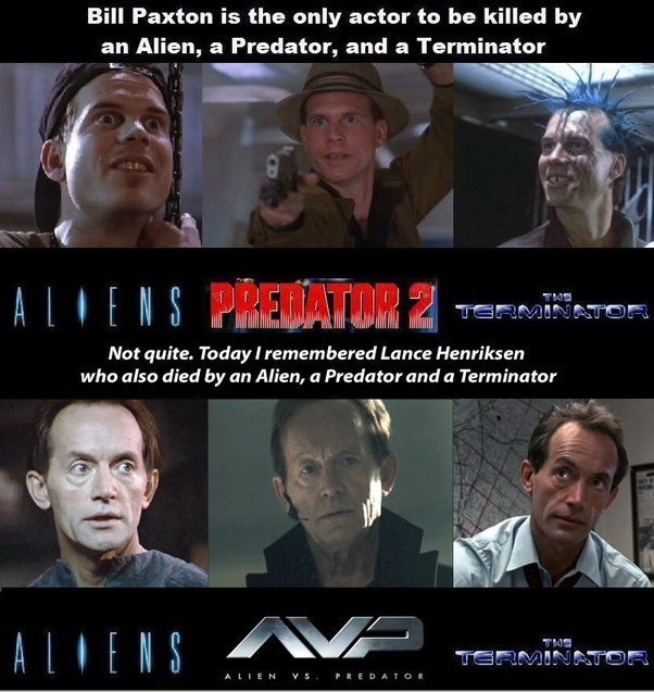 Who is the only actor to be killed by an alien in the film 'aliens ...