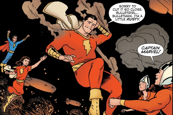 Both The New 52 Earth 5 Captain Marvel Above And Pre Crisis S Below Versions Are Canon