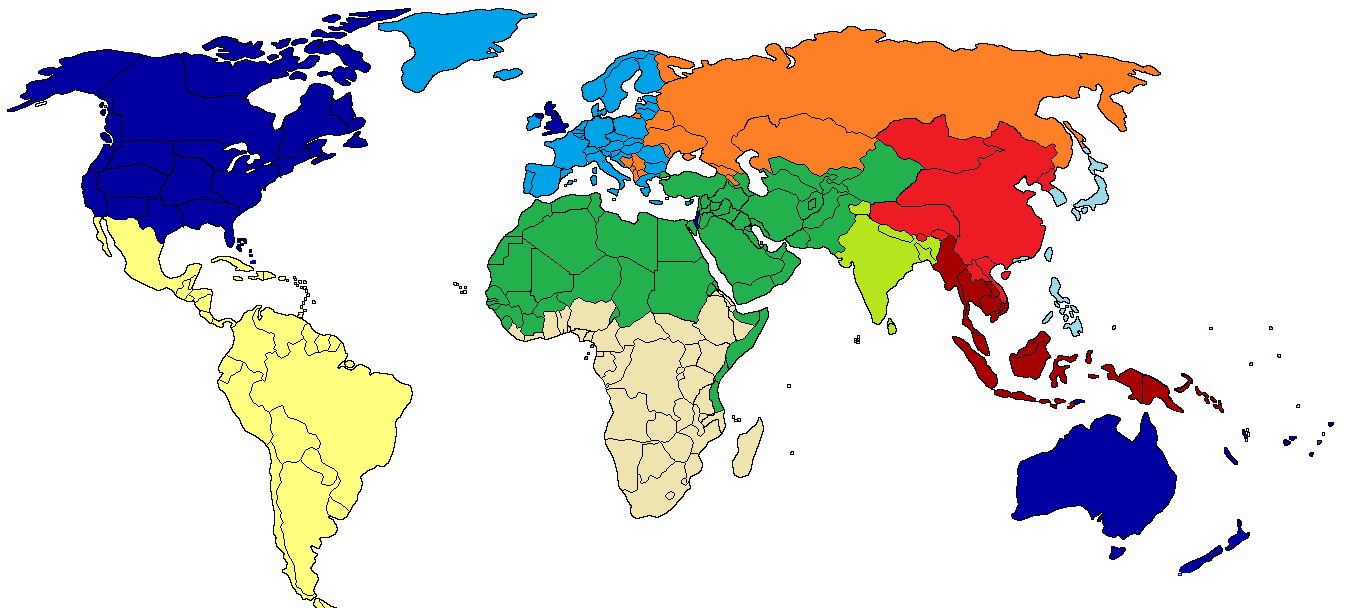 If the world were divided into 10 countries, what countries ...