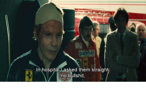 niki lauda hospital scene from meet