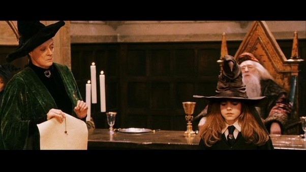 Harry Potter geting sorted into Gryffindor by Sorting Hat ... |Sorting Hat Scene